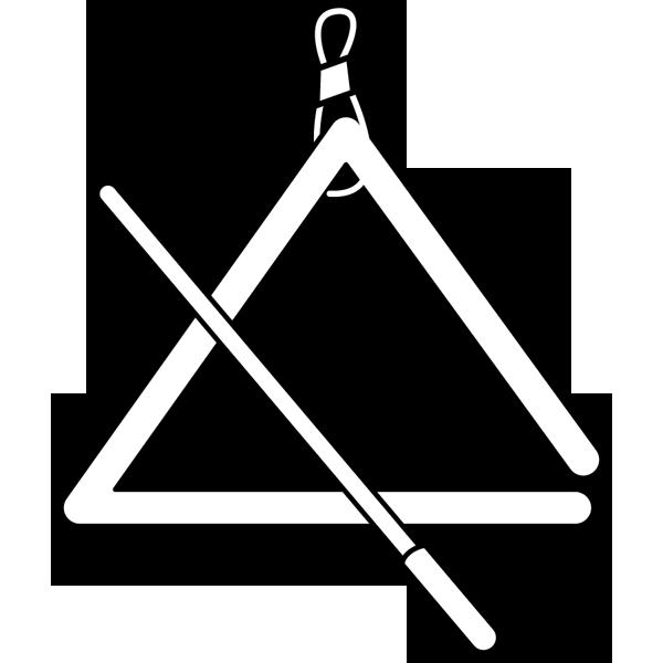音楽 トライアングル(モノクロ)