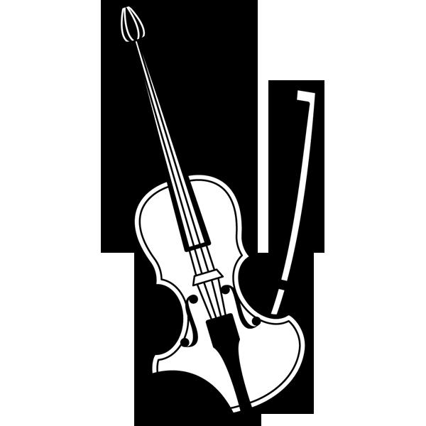 音楽 バイオリン(モノクロ)