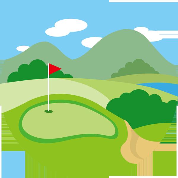 ゴルフ ゴルフ場(グリーン)(カラー)