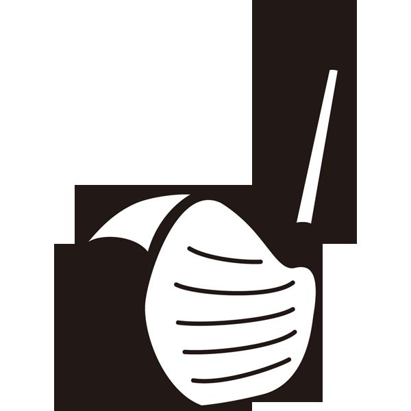 ゴルフ ドライバー(モノクロ)