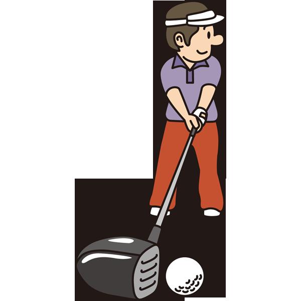ゴルフ ドライバーショット(ゴルフスイング)(カラー)