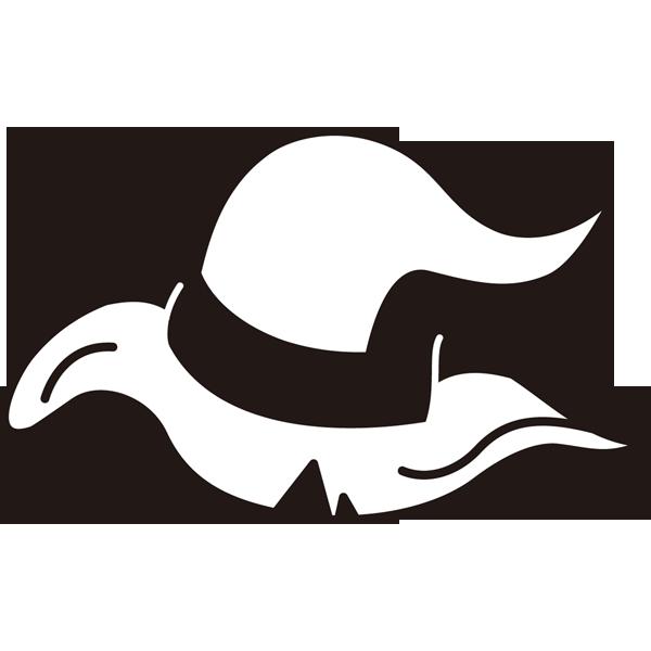 年中行事 魔女の帽子(モノクロ)