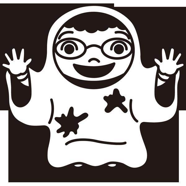年中行事 仮装(子供)(モノクロ)