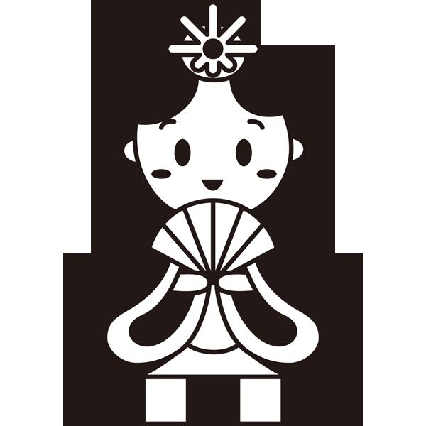 年中行事 雛人形(お雛さま)(モノクロ)