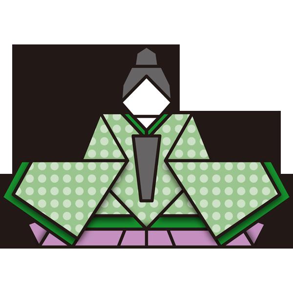 年中行事 雛人形(お内裏さま・折り紙)(カラー)