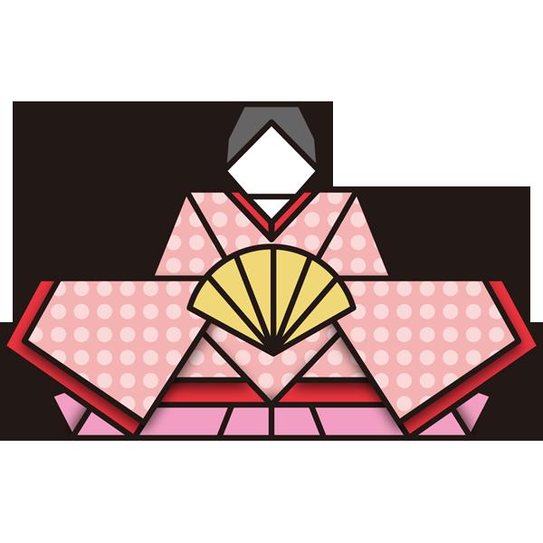 年中行事 雛人形(お雛さま・折り紙)(カラー)