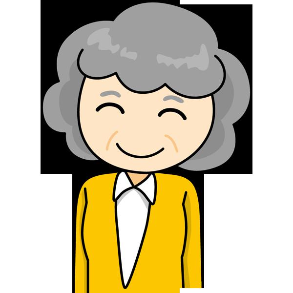 人物 おばさん(笑顔)(カラー)