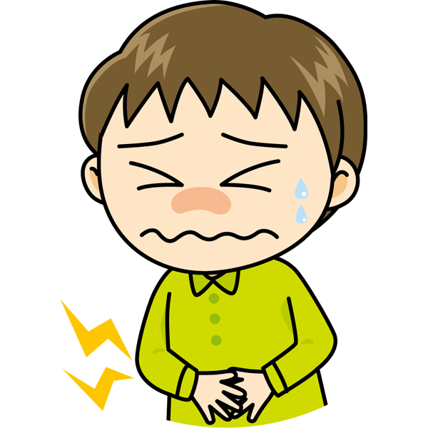 学校 腹痛(男の子)(カラー)