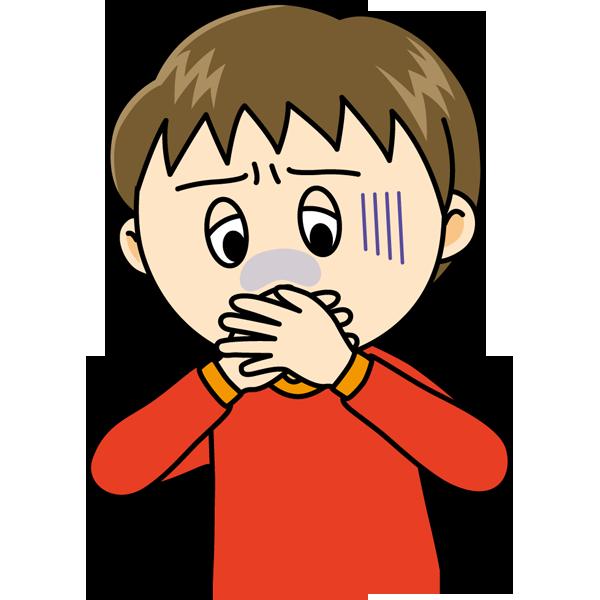 学校 吐き気(男の子)(カラー)