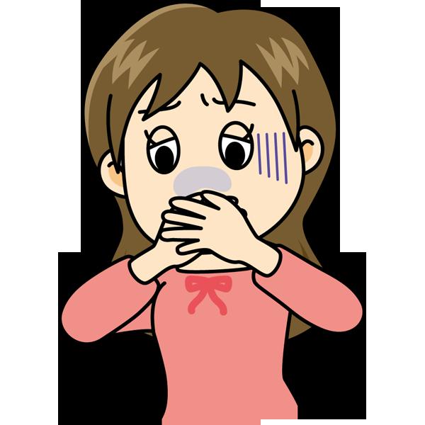 学校 吐き気(女の子)(カラー)