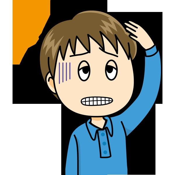 学校 頭痛(男の子)(カラー)