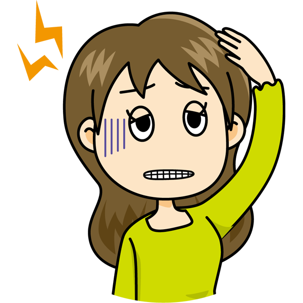 学校 頭痛(女の子)(カラー)