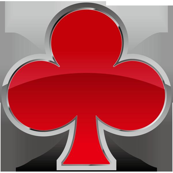 装飾 クローバー(赤いクローバーマーク)(カラー)