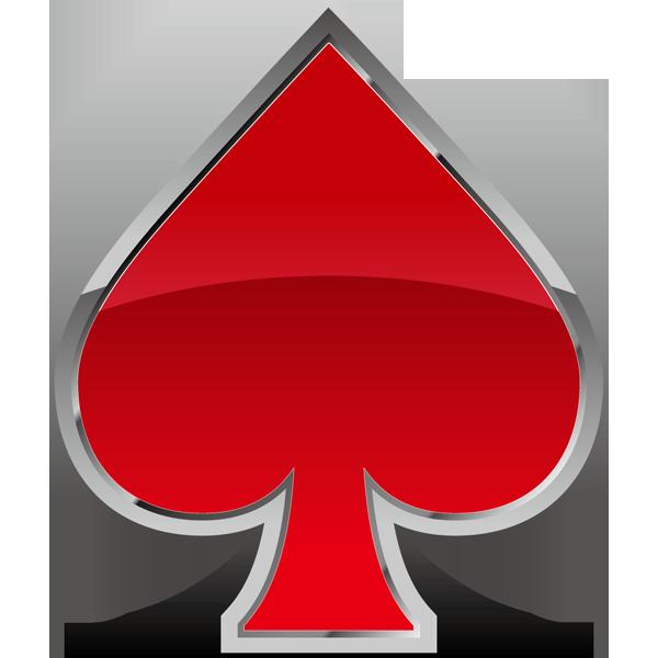 装飾 スペード(赤いスペードマーク)(カラー)