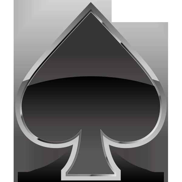 装飾 スペード(黒いスペードマーク)(カラー)