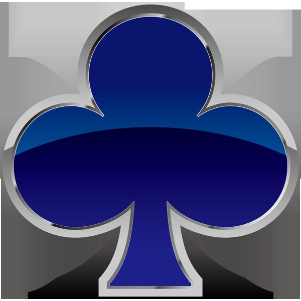 装飾 クローバー(青いクローバーマーク)(カラー)