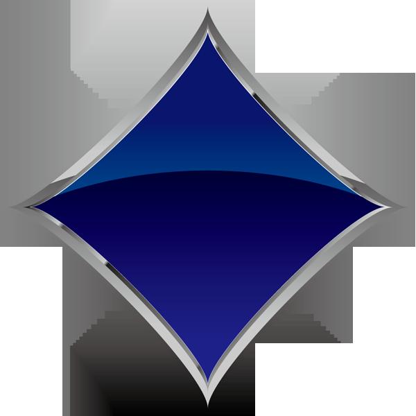 装飾 ダイヤ(青いダイヤマーク)(カラー)