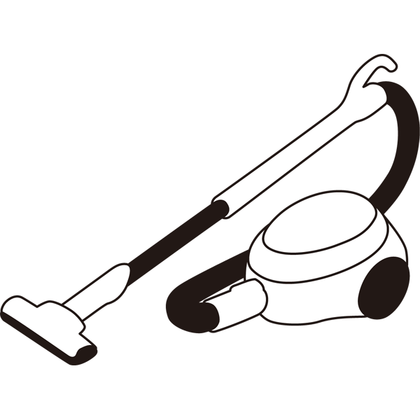 家庭・生活 掃除機(モノクロ)