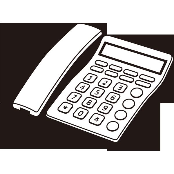 家庭・生活 固定電話(モノクロ)