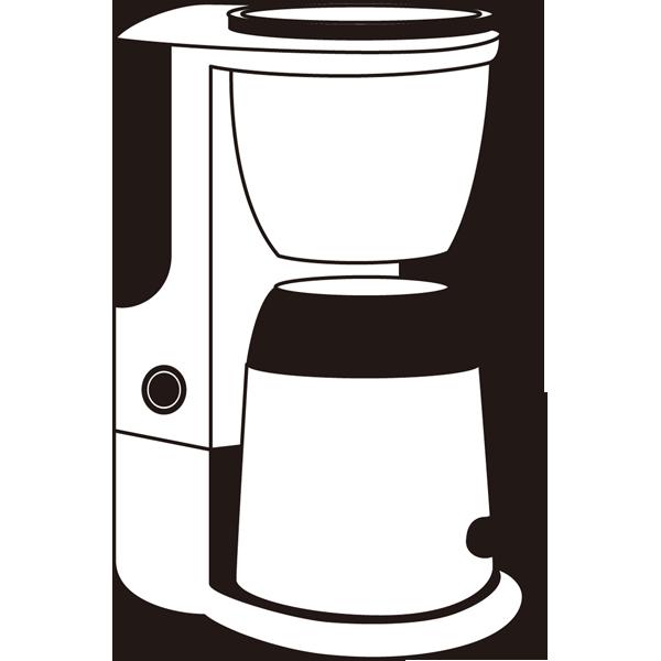 家庭・生活 コーヒーメーカー(モノクロ)