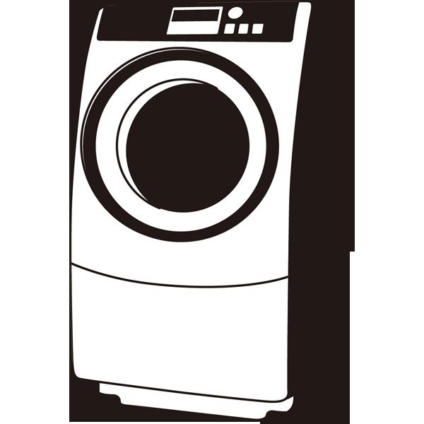 家庭・生活 洗濯機(ドラム式洗濯機)(モノクロ)