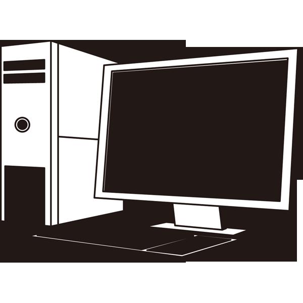 家庭・生活 パソコン(デスクトップパソコン)(モノクロ)
