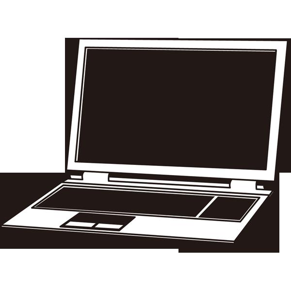 家庭・生活 パソコン(ノートパソコン)(モノクロ)