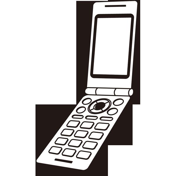 家庭・生活 携帯電話(モノクロ)