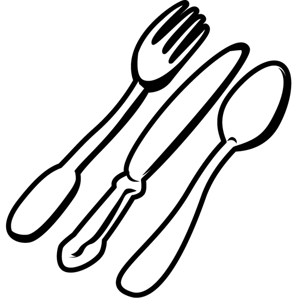 家庭・生活 カトラリー(洋食器)(モノクロ)