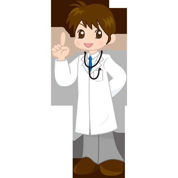 医療 医者(ドクター・マンガ風)(カラー)