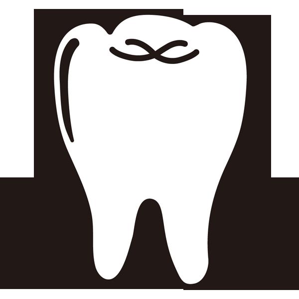 医療 歯(歯茎)(モノクロ)