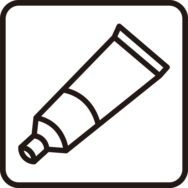 医療 塗り薬アイコン(モノクロ)