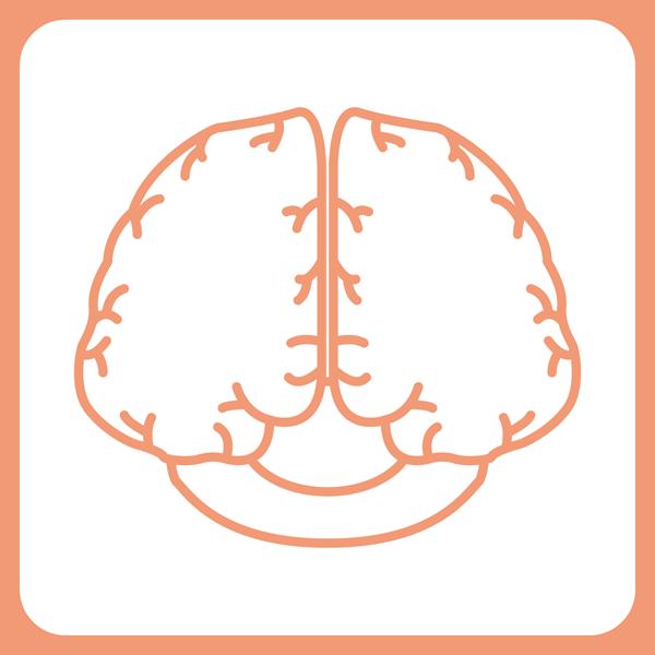 医療 脳神経外科アイコン(カラー)