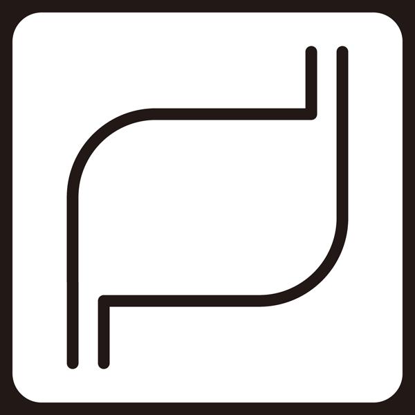 医療 胃袋アイコン(モノクロ)