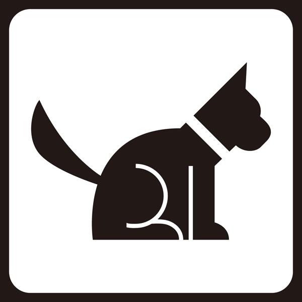 医療 犬アイコン(モノクロ)