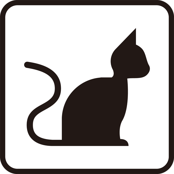 医療 猫アイコン(モノクロ)