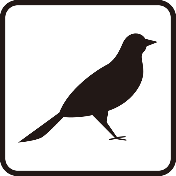 医療 鳥アイコン(モノクロ)