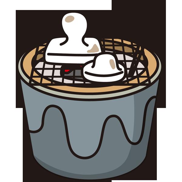 年中行事 お餅(焼き餅)(カラー)