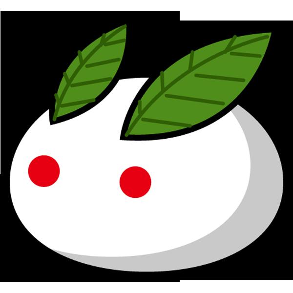 年中行事 雪うさぎ(カラー)