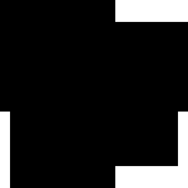 年中行事 雪の結晶(モノクロ)