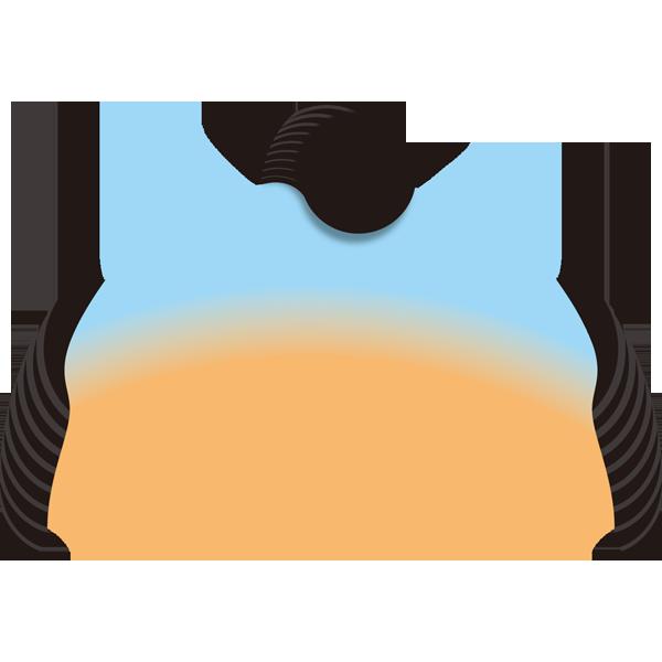 かつら(ちょんまげ)(カラー)