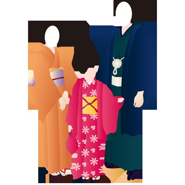 和装(着物・家族)(カラー)
