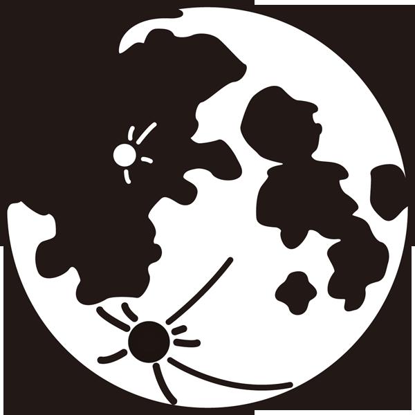 年中行事 満月(モノクロ)