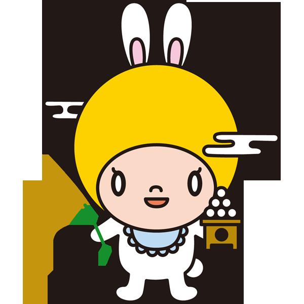 年中行事 お月見のキャラクター(カラー)