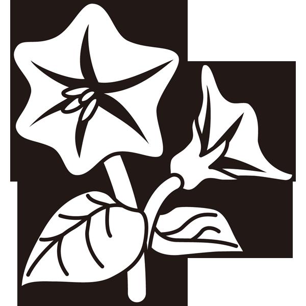 植物 なすの花(モノクロ)