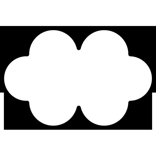 年中行事 雲(くも)(モノクロ)
