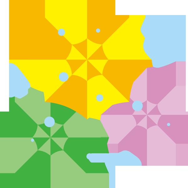 年中行事 傘(カラフル)(カラー)