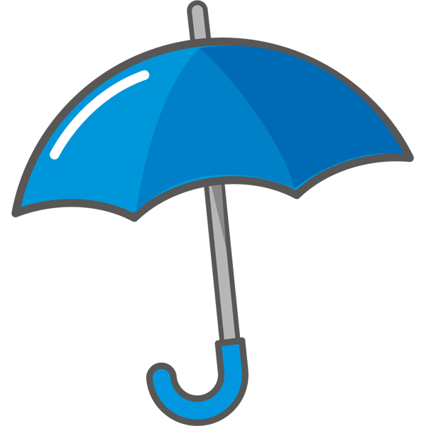 年中行事 青色の傘(カラー)