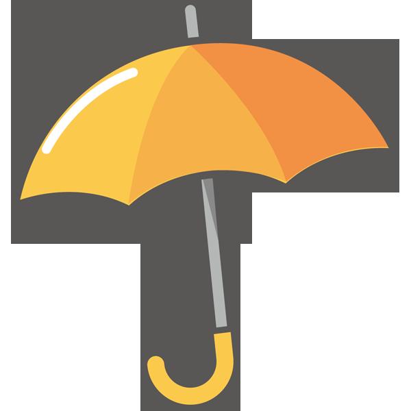 年中行事 オレンジ色の傘(カラー)