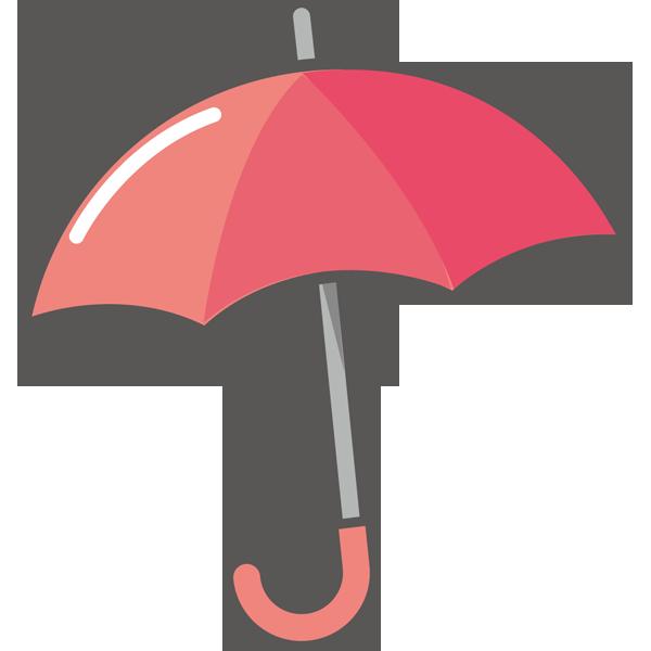 年中行事 赤色の傘(カラー)